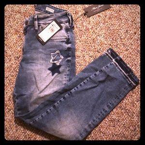 """Mavi """"Adriana"""" Star patchwork skinny jeans NWT"""